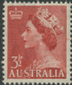 AUS SG263 3½d Queen Elizabeth II brown-red definitive with wmk